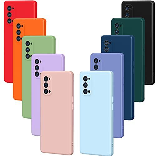ivoler 10x Hülle für Oppo Reno 4 Pro 5G / Oppo Reno4 Pro 5G, Ultra Dünn Tasche Schutzhülle Weiche TPU Silikon Handyhülle Hülle Cover