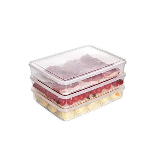 ZL-Aufbewahrungsbox 3 Stück Laden Küche Klassifizierung Abfluss Aufbewahrungsbox Kunststoff Kühlschrank Gefrierschrank Aufbewahrungsbox Lebensmittel Aufbewahrungsbox