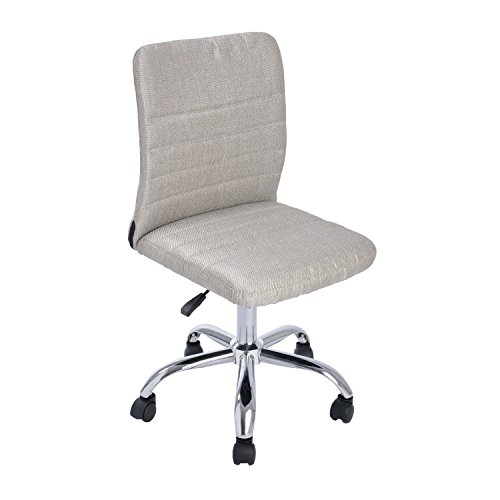 GreenForest Ergonomic Mid Back Armless Adjustable Home and Office Desk Task Chair with Fabric Upholstery, Gold