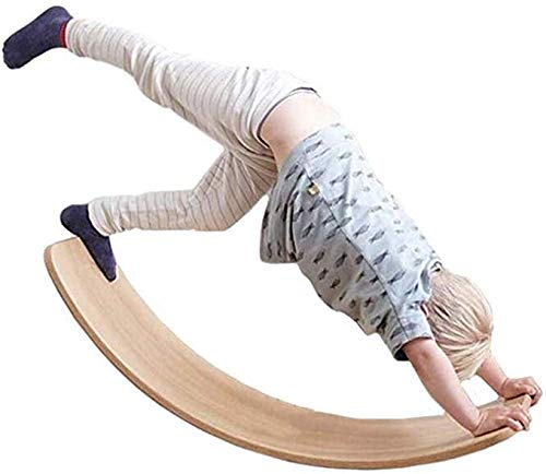 Legno Balance Board Wobble Bordo Curvo Swing Dondolo Multi-Activity Curvy Giocattoli Educativi Kid Yoga Board Board Curvy A Classroom Ufficio per Adulti