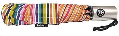 Totes NeverWet Technologie Regenschirm, automatische Öffnung, Regenbogen-Regenschirm, 109 cm