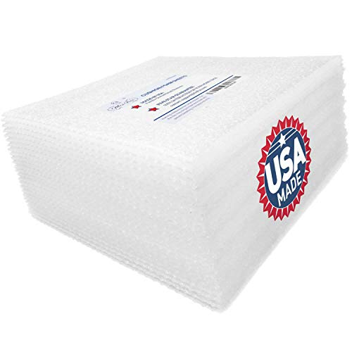 Mrs Fizz Packing Foam Sheets - Moving Supplies Cushion Wrap Material for Dishes, China, Kitchenware, Glassware, Glasses, Plates, and Pictures for Shipping and Storage Boxes, 12x12, 50 Pack
