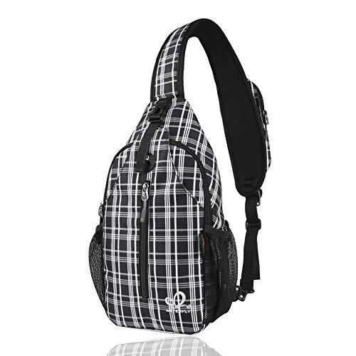 WATERFLY Crossbody Sling Bag Rugzak voor dames en heren reizen, wandeltas