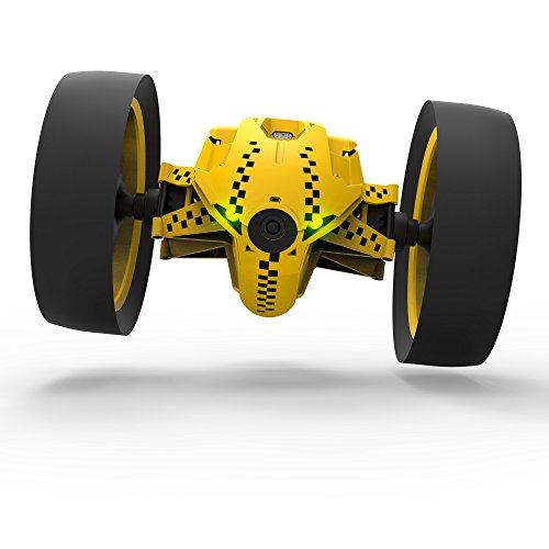 [Japanese regular Edition] drone Parrot Minidrones Jumping Race Tuk Tuk 2-wheel robot 14 km/h 75 cm per saltare Racing Wide LED microfono speaker giallo PF724330