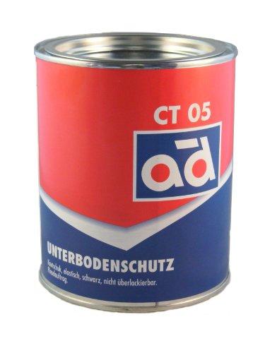 AD Chemie Unterbodenschutz 2,5kg schwarz Pinseldose Asbestfrei Kautschuk lange Wirksamkeit gegen Rost Struesalz Steinschlag 000306ORCA