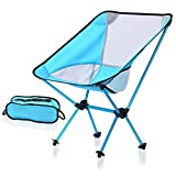 Leichter kompakter faltender Stuhl im Freien, tragbarer Stuhl atmungsaktiv bequem für Camping, Backpacking, Wandern, Picknick