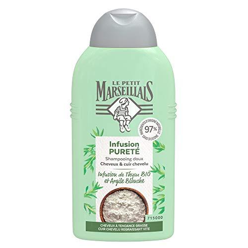 Le Petit Marseillais Shampooing Pureté Infusion Thym Et Argile Blanche Bio