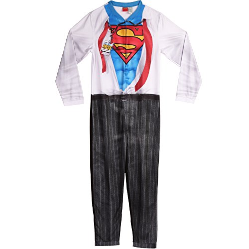 Superman Herren Clark Kent Union Suit Pyjama Set, Oxford White, Medium