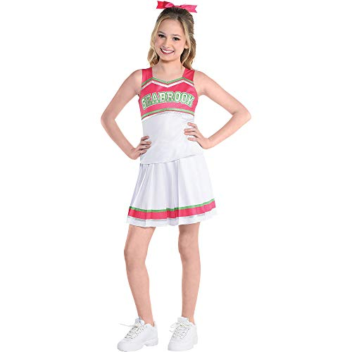 Party City Addison Cheer Halloween Costume for Girls, Disney's Zombies 2, Large, Includes Top, Skirt and Hair Bow