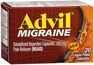 Advil Migraine Liquid Filled Capsules - 20 ct, Pack of 4
