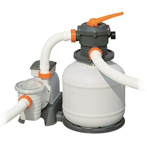 Sandfilteranlage Bestway Flowclear Filterpumpe Sandfilter System Poolreinigung (58499-1 - 8.327 l/h - mit Zeitschaltuhr)