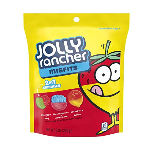 Jolly Rancher MISFITS 2 in 1 Gummies, 8 Ounce (Pack of 9)