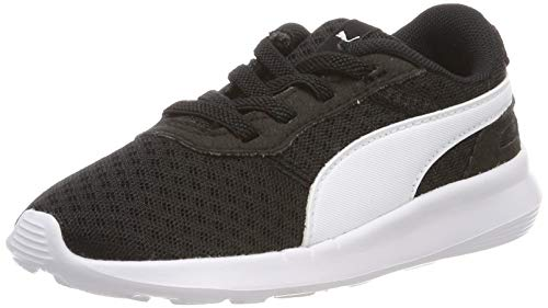 PUMA Unisex Baby ST Activate AC Inf Sneaker, Black White, 24 EU