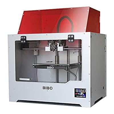 BIBO 2 3D Printer Engraving Sturdy Frame Dual Extruder WIFI Touch Screen Cut Printing Time In Half Filament Detect Demountable Glass Bed