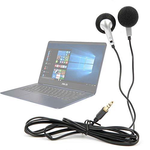 DURAGADGET Auriculares con Cable para Portátil Acer Aspire 5 | A515-52G-73ML, ASUS Zenbook UX430UA-GV259T, HP 255 G6, MSI PS42 8RB-021ES - ¡Ideal para Las Vacaciones!