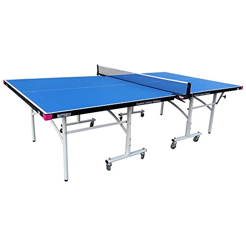 Butterfly Easifold Outdoor Ping Pong Table | Rolling Outdoor Table Tennis Table | 3 Year Warranty | 10 Minute Assembly | Great Bounce All Weather Ping Pong Table | Weatherproof Ping Pong Net