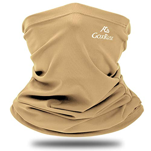 Summer Neck Gaiter Sun UV Protection Face Cover Cooling Neck Scarf Anti Dust Windproof Bandana for Hiking Cycling Fishing (Sand)
