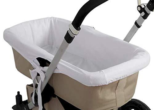 Funda capazo Interior hipoalergénica transpirable cubrecuco (Blanco, Niños talla única)
