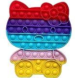 Pop it Fidget Toy   Juguete Sensorial Antiestres para Niños y Adultos   Bubble Push Pop   Juguetes de Explotar Burbujas para Aliviar Ansiedad y Estrés   Pop it Hello Kitty Grande   Push Pop Kitty