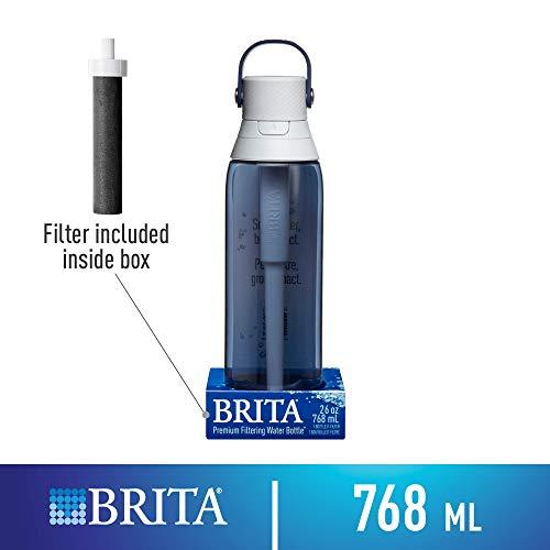Brita Premium Filtering Water Bottle with Filter, BPA-Free, Night Sky, 768 mL