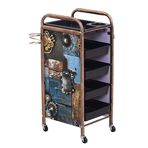 Pull Beauty Trolley, Salon De Beauté Coiffeur Salon De Coiffure Fournitures De Coiffure VéHicule Utilitaire, Chariot à Main