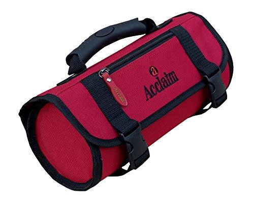 Acclaim Frosterley Bowling-Tasche aus Nylon, 2 Böden, flach, Grün, Red/Black Trim
