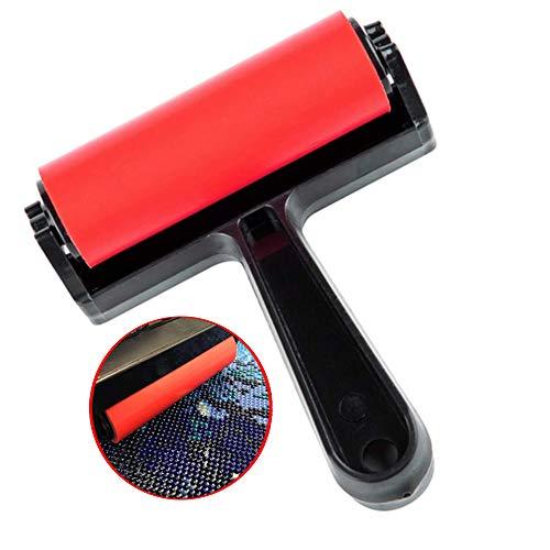 Accesorios de prensado para pintura de diamante, Rodillo de pintura de diamante Full Drill 5D Rodillo de impresión Herramienta de prensado Rodillo de tinta Impresión Rodillo de goma plástico