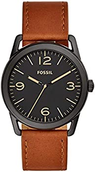 Fossil Ledger Stainless Steel and Leather Casual Quartz Men's Watch