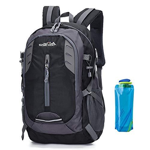 Een AM SeaBlue Wandelen Rugzak 30L Trekking Rugzak Waterdichte Outdoor Klimmen Camping Bergbeklimmen Daypack Lichtgewicht Reizen Laptop Tas Voor Heren Vrouwen met Waterfles