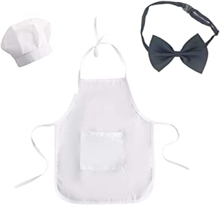 Infant Baby Boy Girl Photo Shoot Chef Hat+Apron Outfits Photography Costume Kids Cosplay Party Clothes