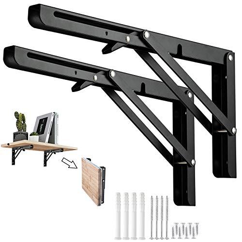 soportes de estante plegables de 20cm, de acero inoxidable resistente, soporte de...