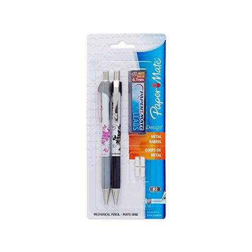Paper Mate 0.7mm Mechanical Pencil Starter Set, Black/Pink Floral