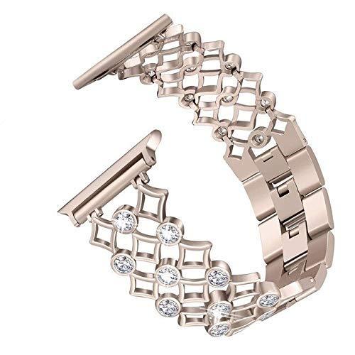 Pulsera de diamantes para reloj Apple de 44 mm, 40 mm, 42 mm, 38 mm, acero inoxidable iwatch Series 4, 3, 2, 1, correa de reloj para mujer, accesorios (color: oro retro, tamaño: 44 mm)