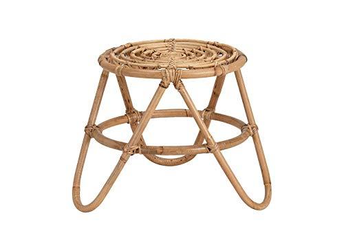 Meubletmoi - Tavolino rotondo in rattan, stile bohémien, diametro 40 cm, TIKA 3751