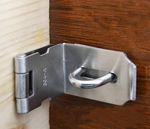 Zware hangslot Hasp Duty, deur Hasp latch 90 graden, roestvrij staal veiligheidshengel vergrendelingsteek voor schuiven Keyed vergrendelen Haspe voor deuren kinderbeveiliging, beveiligingsslot, diefstal