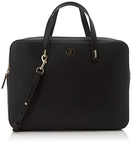 Tommy Hilfiger Dames Charming Tommy Comp Bag Laptop Bag, Zwart (Black), 1x1x1 cm