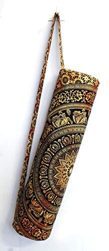 Sac de transport avec bandoulière pour tapis de yoga et de yoga, 4 fleurs jaunes., FULL