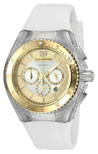 Technomarine Women's Cruise Stainless Steel Quartz Watch with Silicone Strap, White, 25 (Model: TM-116002)