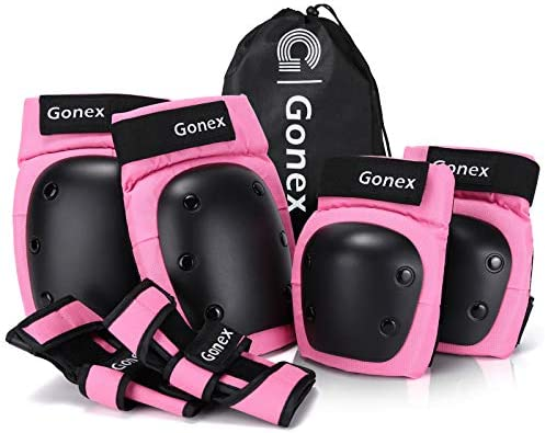 Gonex Skateboard Elbow Pads Knee Pads with Wrist Guards Skate Pads for Kids Youth Adult 3 in product image