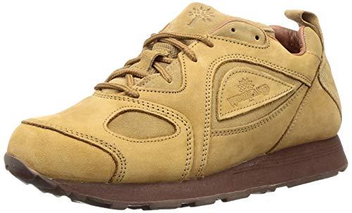 Woodland Men's Camel Leather Sneakers - 9 UK/India (43 EU) (G 777WS)