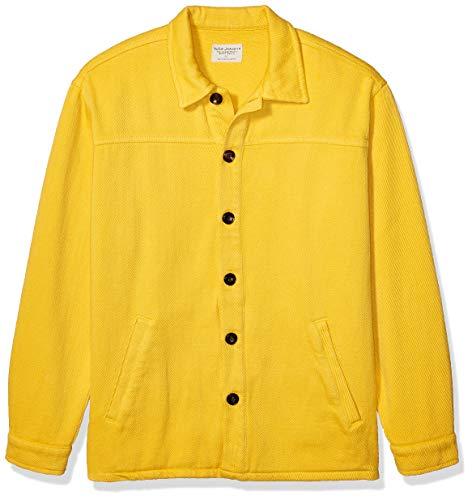 Nudie Jeans Unisex-Erwachsene Elias Twill Overshirt Button Down Hemd, Löwenzahn, XX-Large