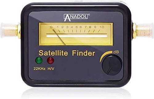 Anadol SF22 - Localizador de satélites con escala de nivel y señal sonora (medidor para una alineación óptima de la antena satélite, ajuste de ...