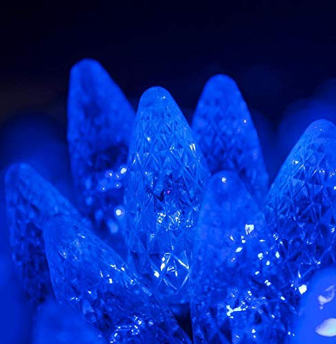 Blue Color LED Christmas Installation Area Indoor & Outdoor C6 String Lights 70 Lights - 24' #CMS01YN
