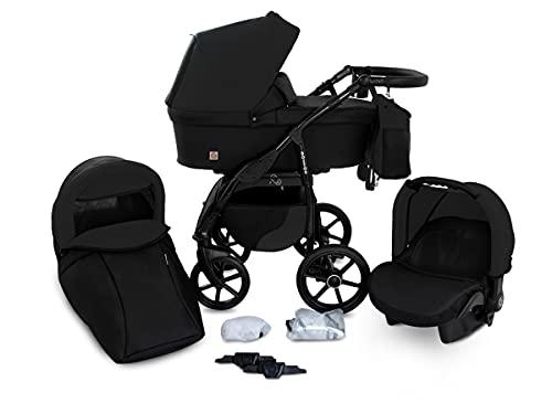 Boston Passeggino TRIO Sistemi modulari baby Carrozzina Trio Seggioliono OVETTO AUTO Gagadumi (B5-Nero)