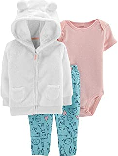 Carter's Baby Girls' Cardigan Sets 121g779 (Ivory/Turquoise/Pink, 3 Months)