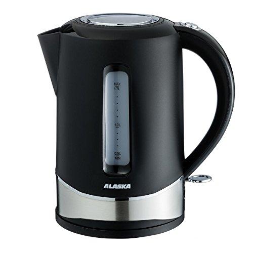ALASKA Wasserkocher WK 2204 | Teekocher | ca. 1,7 L | 360 Grad drehbar | herausnehmbarer Anti Kalk Filter | Kabelaufwicklung | Wasserstandsanzeige | Überhitzungsschutz | Abschaltautomatik | 2.200 W