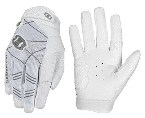 Seibertron B-A-R Pro 2.0 Signature Baseball/Softball Batting Gloves Guantes de bateo de béisbol Super Grip Finger Fit For Adult Blanco XL