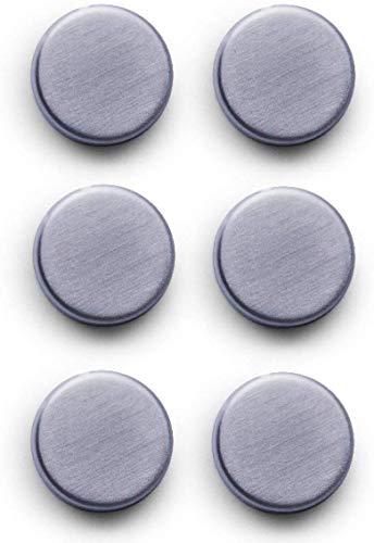 Zeller 11203 Magnet-Set, 6-tlg., extra stark, Edelstahl, ca. Ø 2,7 cm