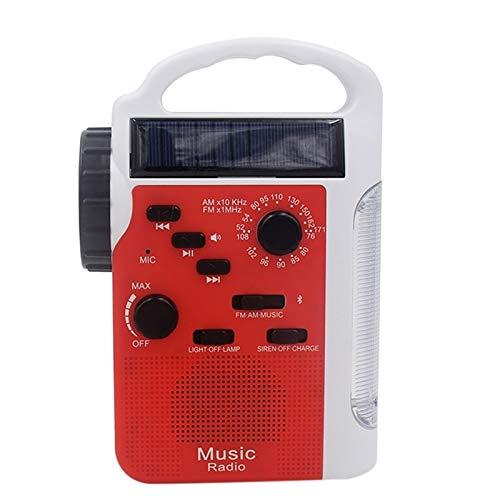 Lsmaa Radio de emergencia, energía solar Am Fm de manivela con 13 linternas LED y fuente de alimentación móvil de 2300 mAh, apto para teléfonos inteligentes