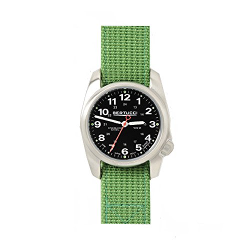 Bertucci 10015Smartwatch unisex in acciaio INOX verde, filo di nylon,...